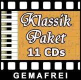 11 CD Klassik Paket - Gemafreie Musik